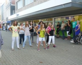 Flashmob op de Breestraat