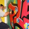 Graffiti-artist Sandro Angela