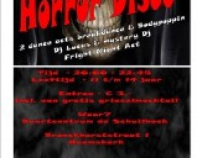Horror Disco in buurtcentrum D..