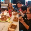 Hotdog eetwedstrijd…..