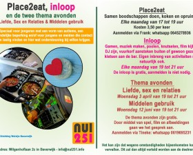 Place2Eat, inloop & thema..